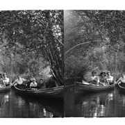 Cover image of Barnes family boating on Willow Creek