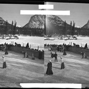 Cover image of Ladies' hockey on the Bow River at Banff