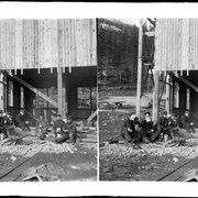Cover image of Carpenters at Bankhead eating lunch