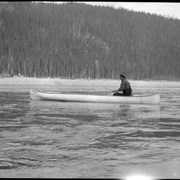 Cover image of Man in canoe on Columbia River