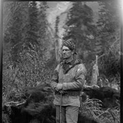 Cover image of Elliott Barnes with bear skins