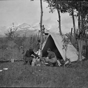 Cover image of Elliott Barnes and Ole Garrett in camp