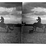 Cover image of Jacob Twoyoungmen on bucking horse