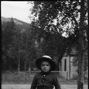 Cover image of Robert Barnes in yard of Barnes family home in Banff