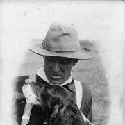 Cover image of Elliott Barnes and dog (Gyp)