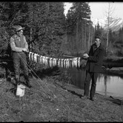 Cover image of Elliott Barnes and Mr. Jordan fishing on Forty Mile Creek