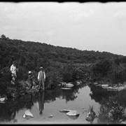Cover image of People fishing on Little Jumping Pound Creek