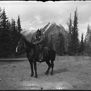 Cover image of [Silas Abraham on horseback at Kootenay Plains]