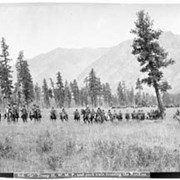 Cover image of 808. 'D' Troop N.W.M.P. and pack train crossing the Rockies
