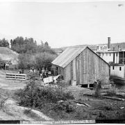 Cover image of 809. 'Sam's Landing' and stage, Kootenai, B.C.