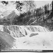 Cover image of 682. Falls on the Kicking Horse, Leanchoile, 103 ft. high, Winter