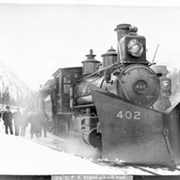 Cover image of 704. C.P.R. Engine 402 and train