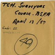Cover image of TCH. [Trans Canada Highway] Surveyors Course; B.S.F.A. [Banff School of Fine Arts]; April 13, 1957