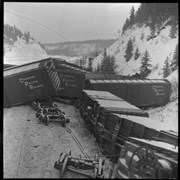 Cover image of C.P.R. [Canadian Pacific Railway] Train Wreck, 1960