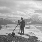 Cover image of Byron Harmon & icefield from Mount Bryce, Columbia Icefield trip