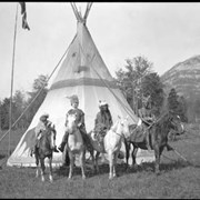 Cover image of Banff Indian Days, Eli Rider (3rd from left), Stoney First Nation