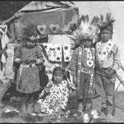 Cover image of Group of unidentified children in regalia