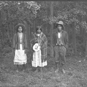 Cover image of Alma Wildman (sister of Burt Wildman) , Elizabeth or Lily (sister of Jimmy Wildman) (future wife of Lazarus Wesley), Paul Poucette (Pa-to-gen), Stoney Nakoda