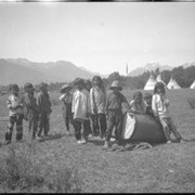 Cover image of Group of children at Banff Indian Grounds