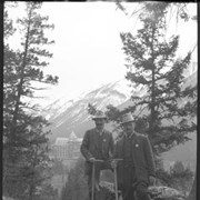 Cover image of 2 climbers, Banff Springs Hotel