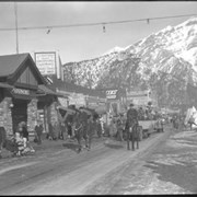 Cover image of Banff Winter Carnival, parade on Banff Avenue