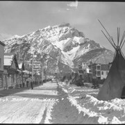 Cover image of 346. Banff Avenue, winter (teepees)