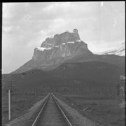 Cover image of 64. Mt. Eisenhower and railroad : [Castle Mountain]