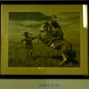 Cover image of [2 unidentified First Nations men enacting a battle]