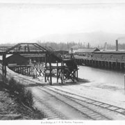 Cover image of 254. Foot Bridge & C.P.R. Station, Vancouver