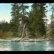 Cover image of The first raft on Maligne [Lake]
