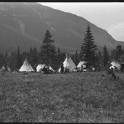 Cover image of [Camp of several teepees]