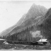 Cover image of 601. Mount McDonald and C.P.R. Express at Rogers Pass
