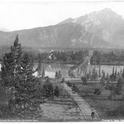 Cover image of 600. Banff and Cascade Mountain, from Sanitarium Hotel