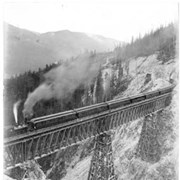 Cover image of 567. Hermit Range of Mountains and Train from top of Glacier House