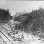 Cover image of 1647. Kicking Horse Pass, looking East / On the Canadian Pacific Railway