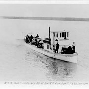 Cover image of A& A Boat Leaving Fort Smith For Fort Resolution