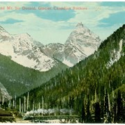 Cover image of C.P.R. Train and Mt. Sir Donald, Glacier, Canadian Rockies