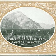 Cover image of Cascade Mountain from Sanitorium Hotel, Banff