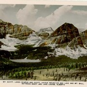 Cover image of Mt. Egypt, Lakes Scarab and Egypt, Haiduk Mountain and Lake and Mt. Ball, Between Banff and Lake Louise, Alberta