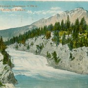 Cover image of Bow Falls and Cascade Mountain, 9,796 ft., Banff, Canadian Rockies