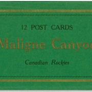 Cover image of 12 Post Cards Maligne Canyon Canadian Rockies