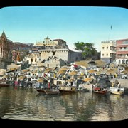 Cover image of Along Banks of Ganges River Benares