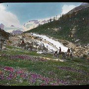Cover image of [Group of trail riders in {Yoho Valley?)]