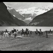 Cover image of Lake Louise photog. [photography] party mounting / 99