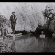 Cover image of [Early bathers in basin pool at Cave and Basin]