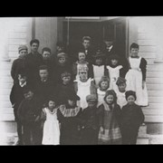 Cover image of [Teacher D.C. Baynes and Banff school class]