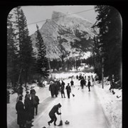 Cover image of [Curling on backwater of Bow River]