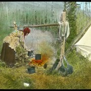 Cover image of [Mary Schaffer cooking over campfire]