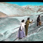 Cover image of [Early climbers on glacier (woman in long skirt)]