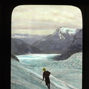 Cover image of [Climber on (Upper Robson Glacier?)]